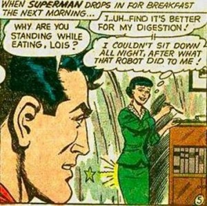 The man of steel isn't enough for Lois.
