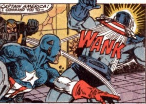 Captain America doesn't need to be ordered to wank